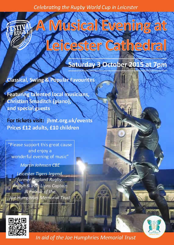 Christian Smaditch JHMT Leicester Cathedral concert
